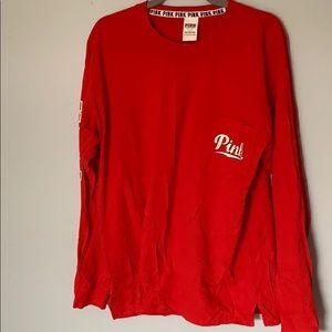 Pink L Long Sleeve Shirt